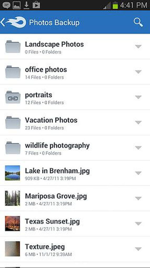 MediaFire for Android phone Online backup